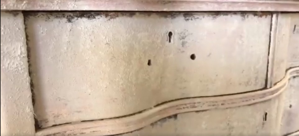Close Up View Of Chippy, Weathered Dresser