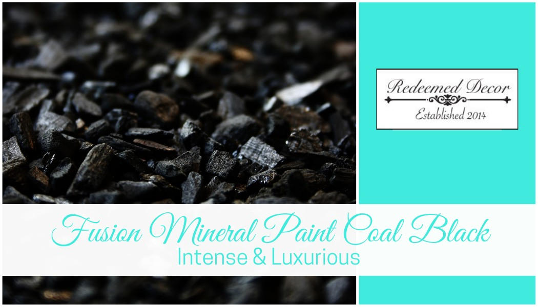 "Featured image for ""Fusion Mineral Paint Coal Black: Intense & Luxurious"" blog post"