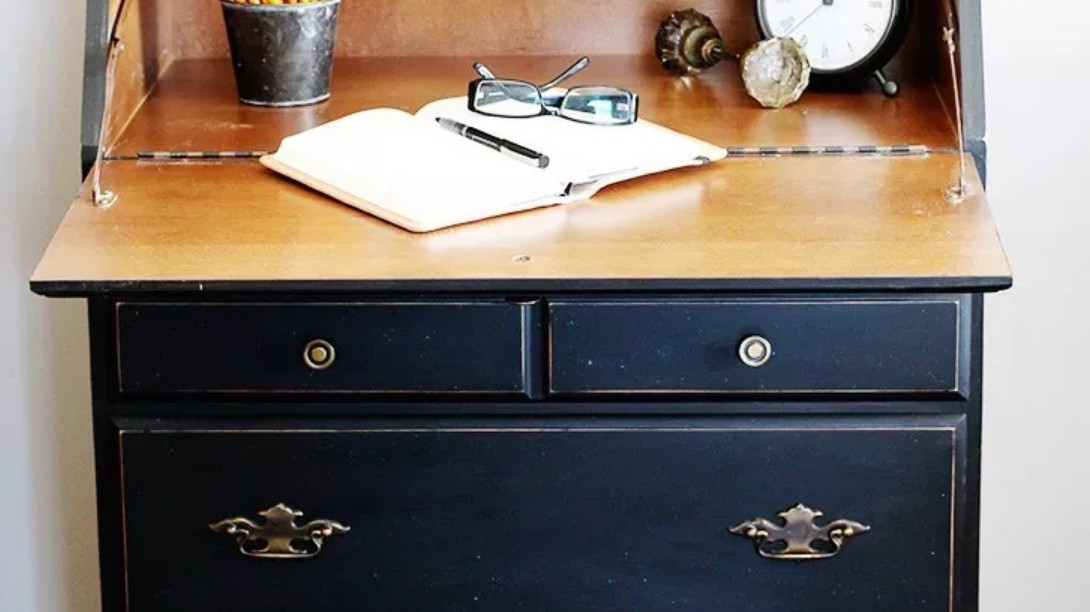 Painted secretary desk by Home Made Lovely