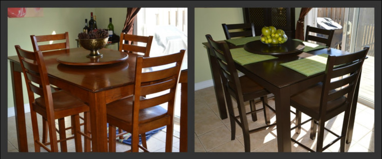 Dining table repainted by Dale, Mango Reclaimed