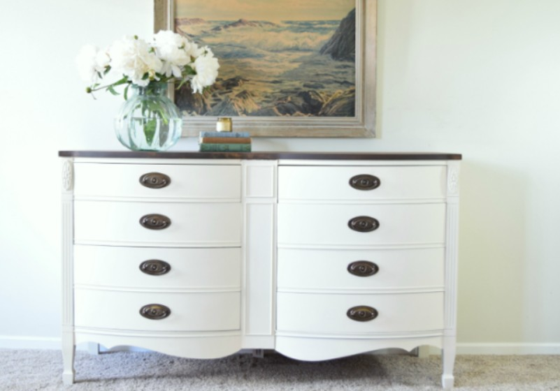 Off-white dresser makeover by Lily Field Co.