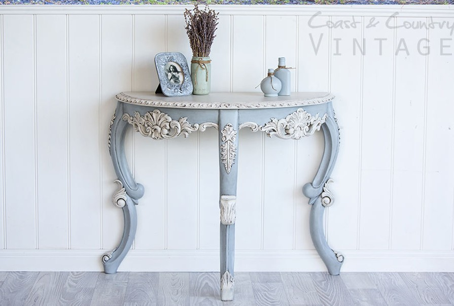French side table painted by Coast & Country Vintage