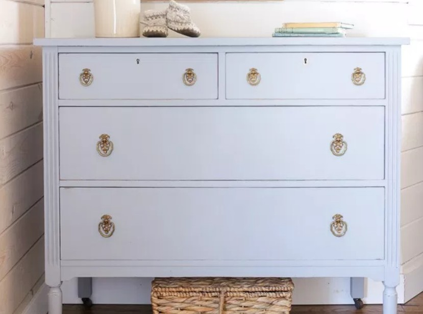 Dresser painted in grey by This Mamas Dance