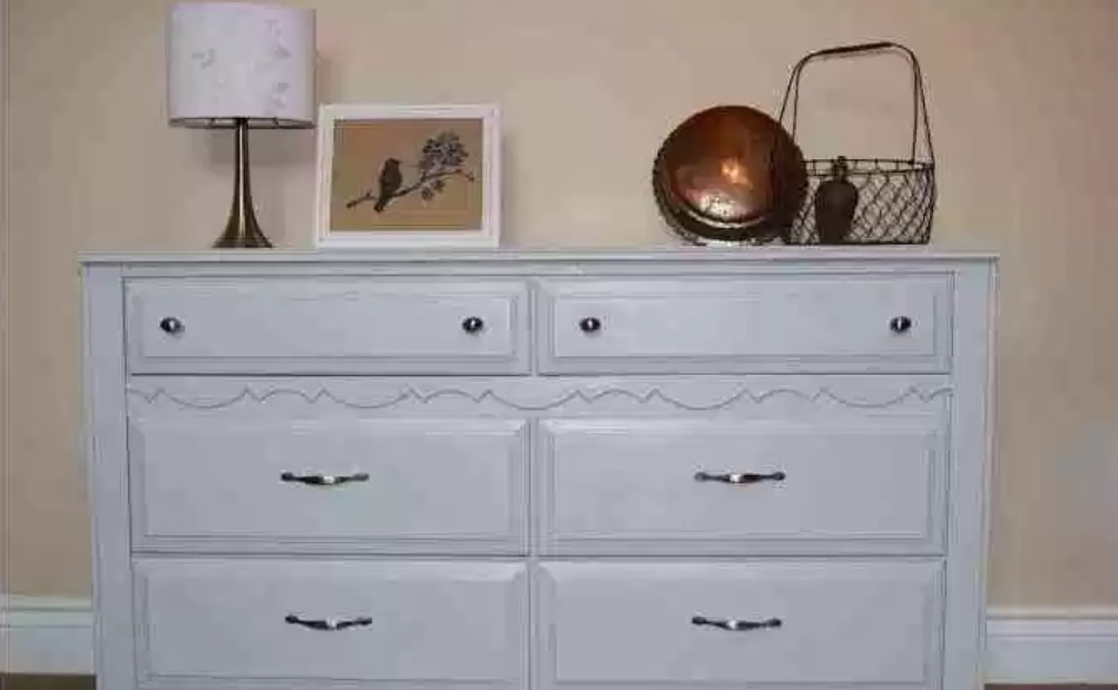Repainted vintage dresser by Recreated Designs