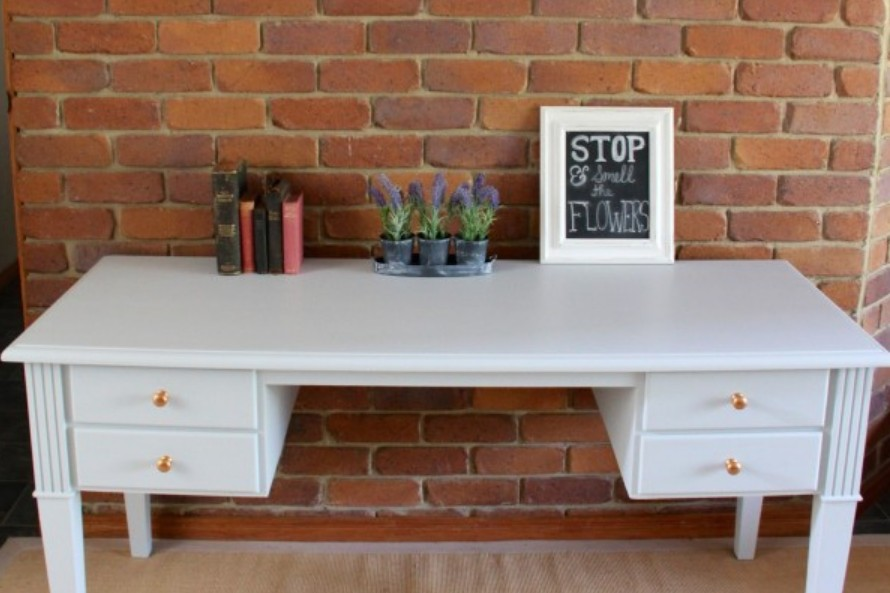 Study desk makover by i Restore Stuff