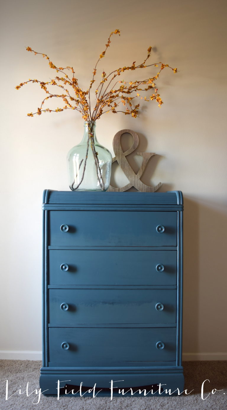ombre DIY dresser with Fusion Mineral Paint Seaside
