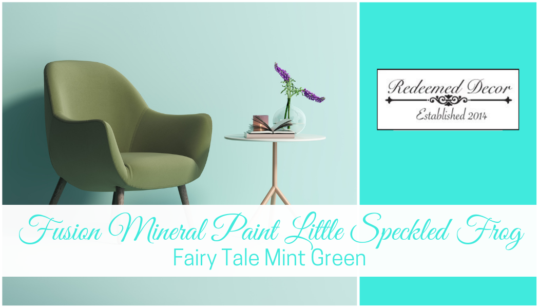 Fusion Mineral Paint Little Speckled Frog: Fairy Tale Mint Green