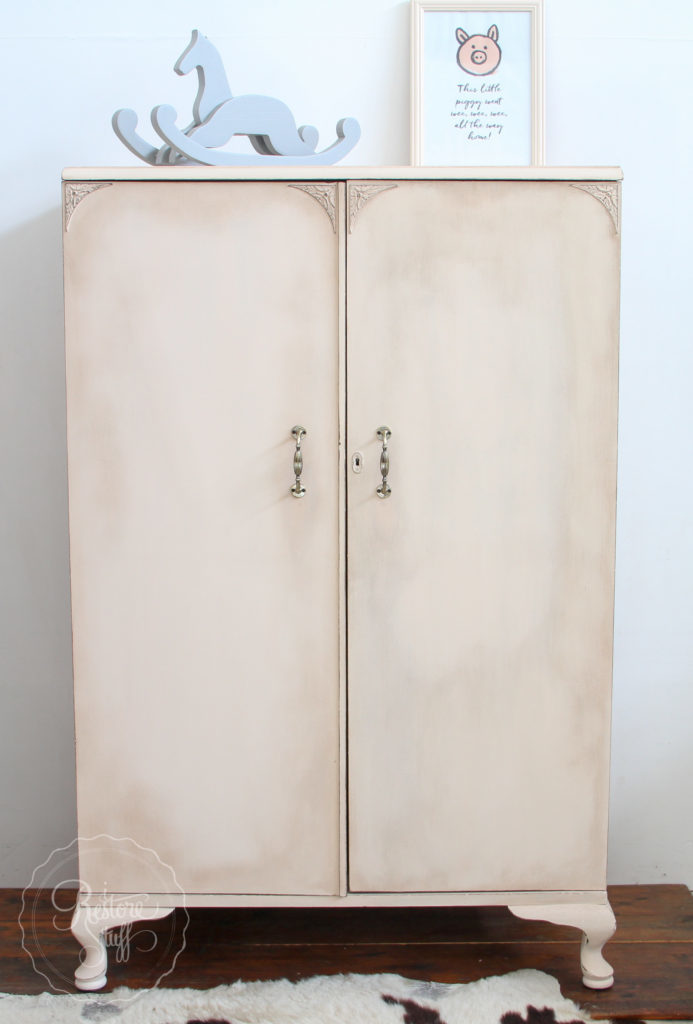 Cupboard painted in light pink