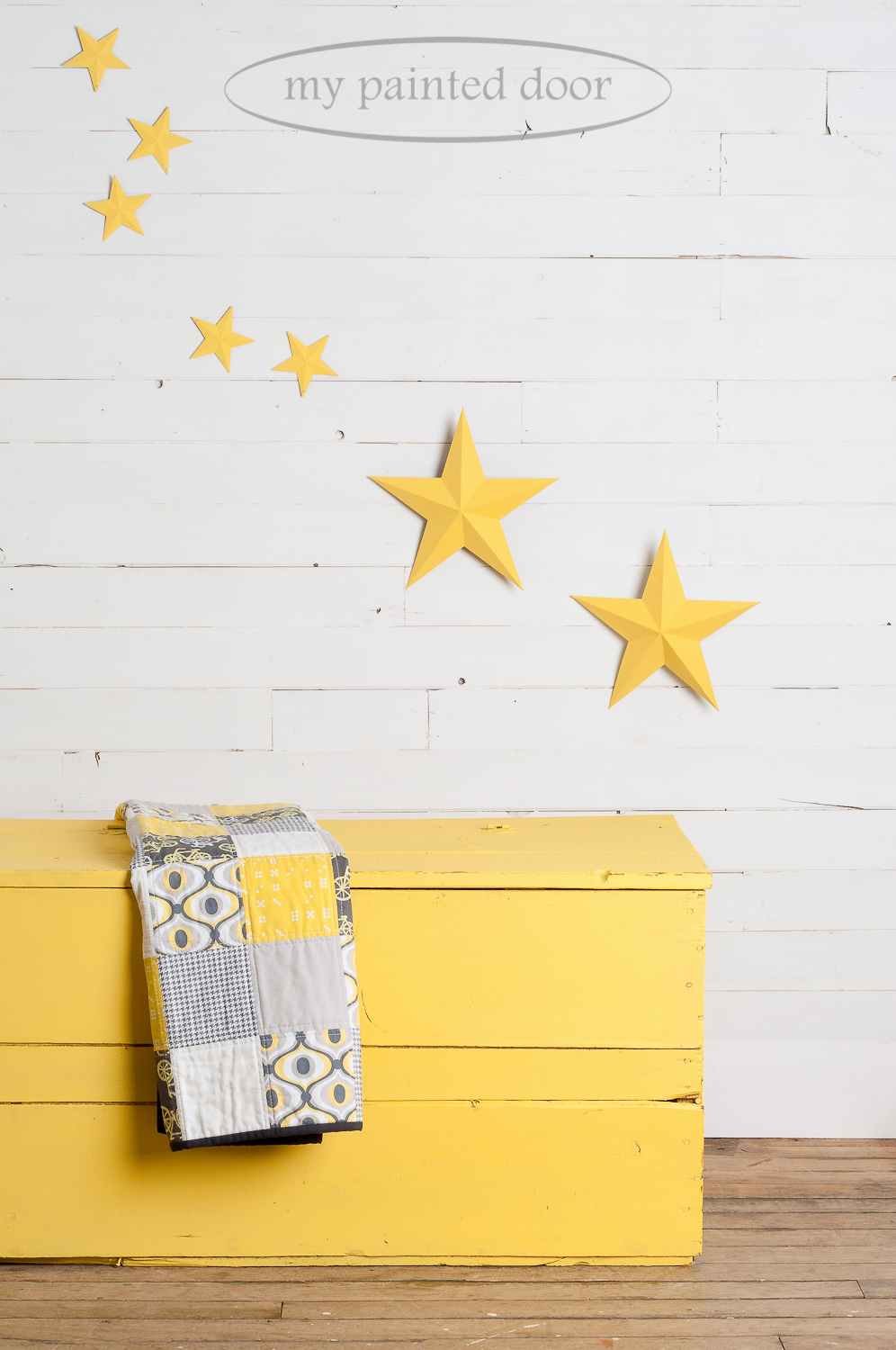 Little Star Distressed Wooden Box