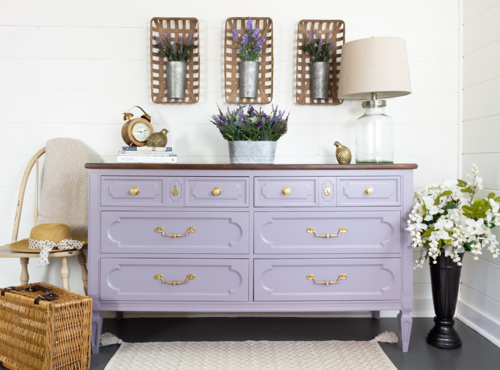 Lavender colored dresser