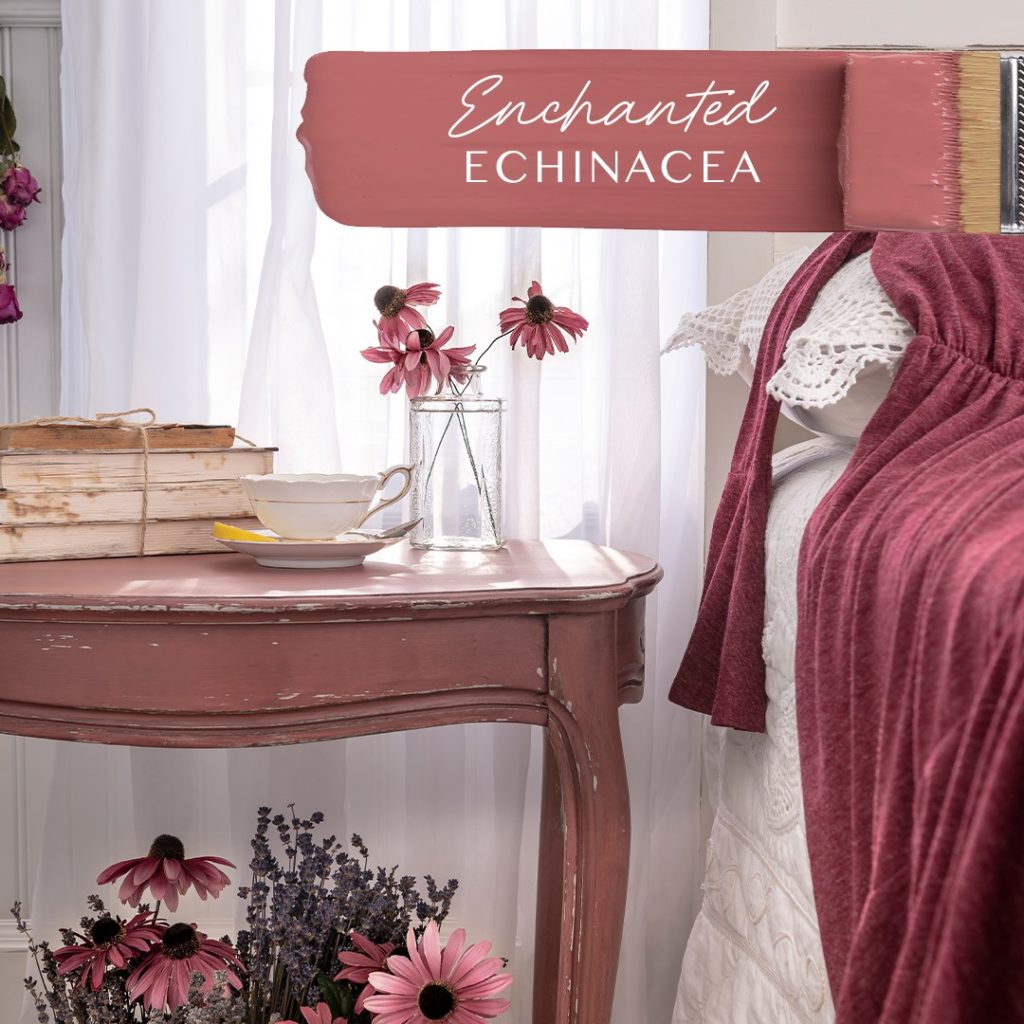 Rose colored end table
