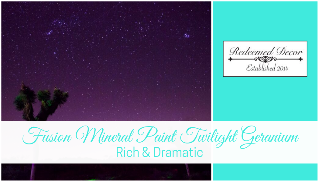 "Featured image for ""Fusion Mineral Paint Twilight Geranium_ Rich & Dramatic"" blog post"