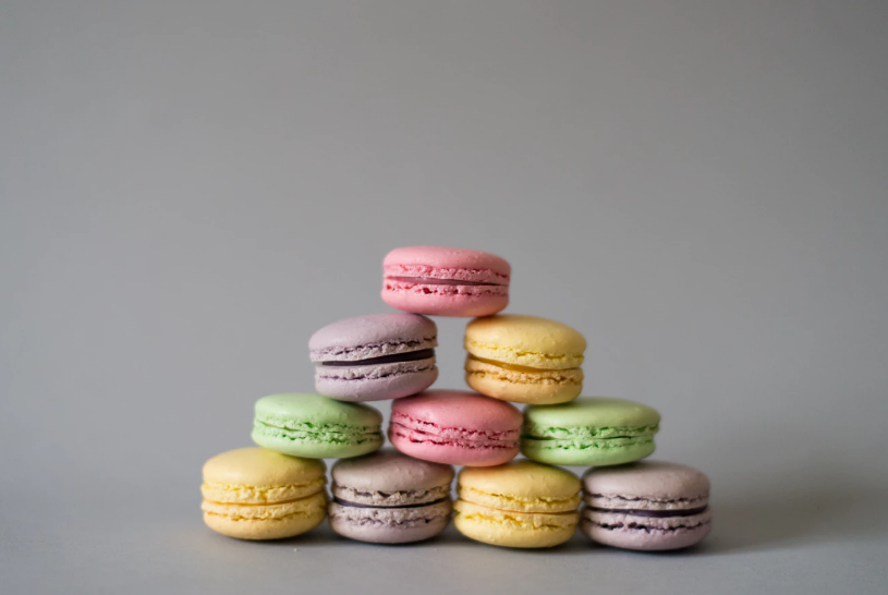Pastel colored macaroons