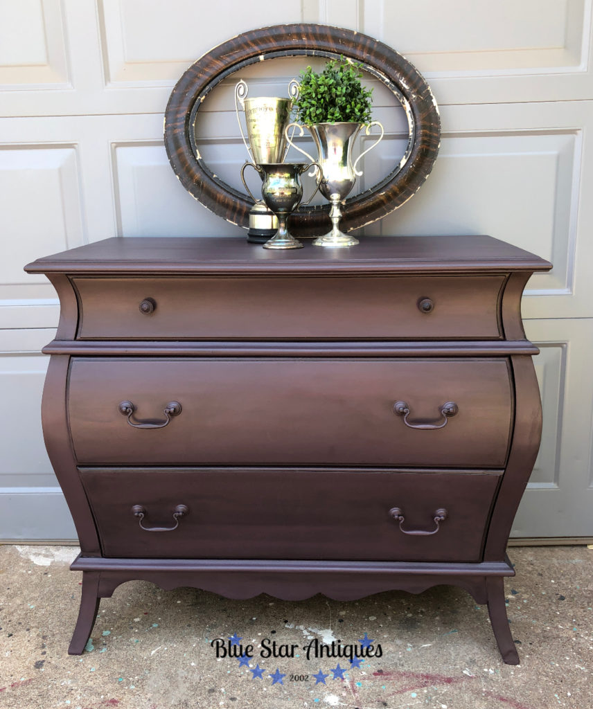 Deep purple chest of drawers