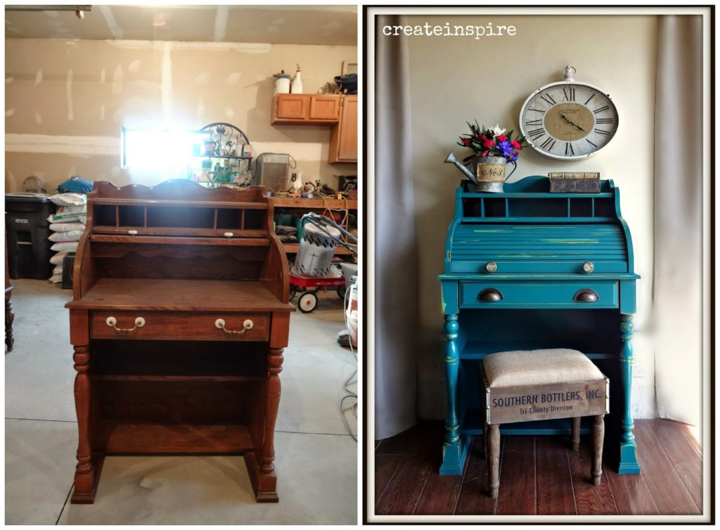 Roll top desk makeover