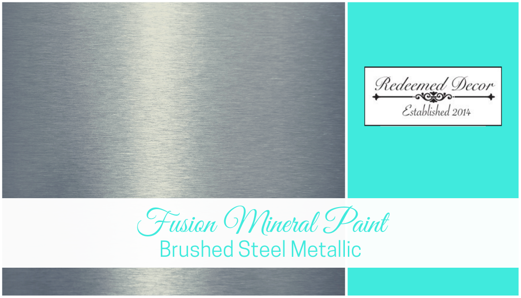 "Featured image for ""Fusion Mineral Paint Brushed Steel Metallic"" blog post"