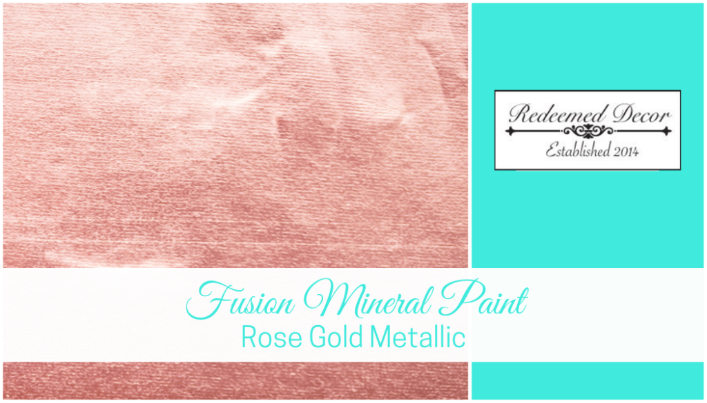 "Featured image for ""Fusion Mineral Paint Rose Gold Metallic"" blog post"