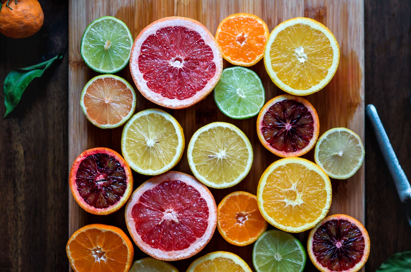 Zesty, citrus fruits