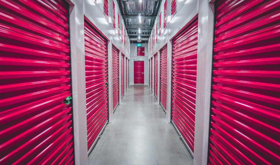 Hot pink storage doors