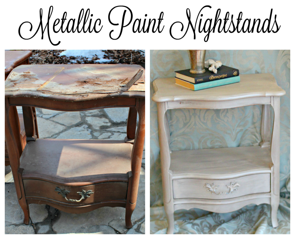 metallic paint nightstand