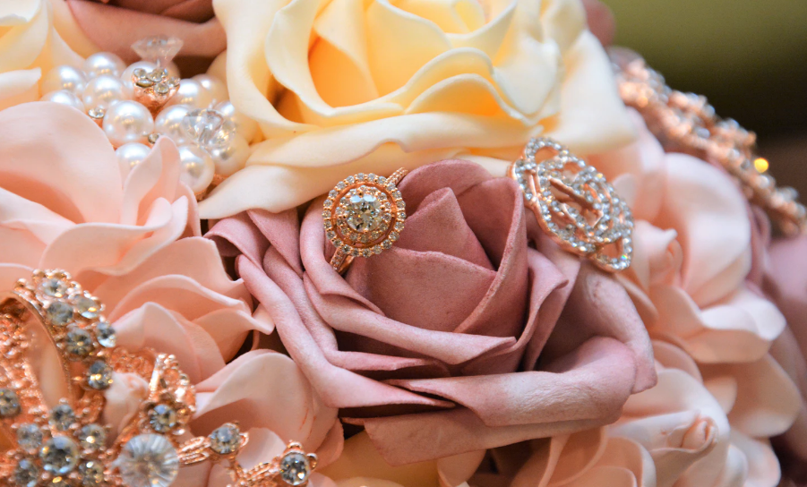 Jewelry and roses
